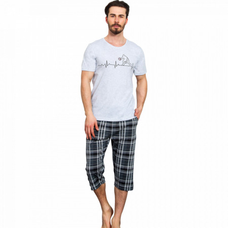 Pijama Barbati Gazzaz by Vienetta, 'Fair Play' Gray