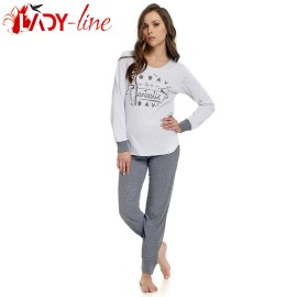 Poze Pijama Dama Maneca/Pantalon Lung, 'Fantastic Day', DN-Nightwear