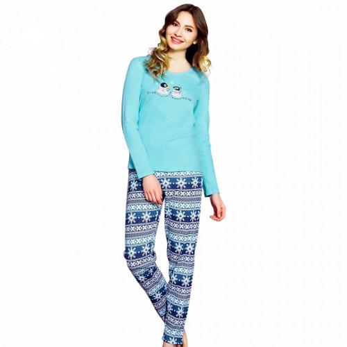 Pijama Dama Vienetta, Bumbac Interlok, 'You Make Me Happy'