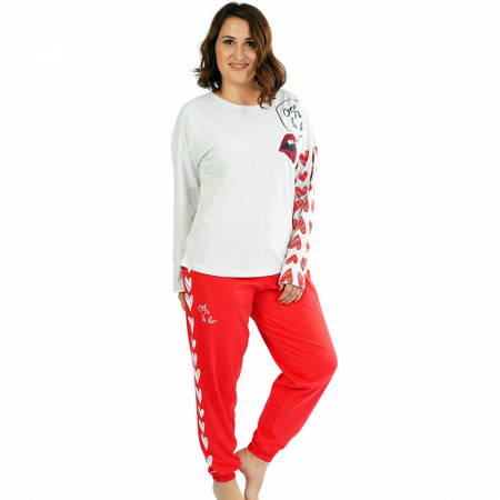Pijamale Confortabile Dama Marimi Mari Vienetta Model 'Ooh La La'