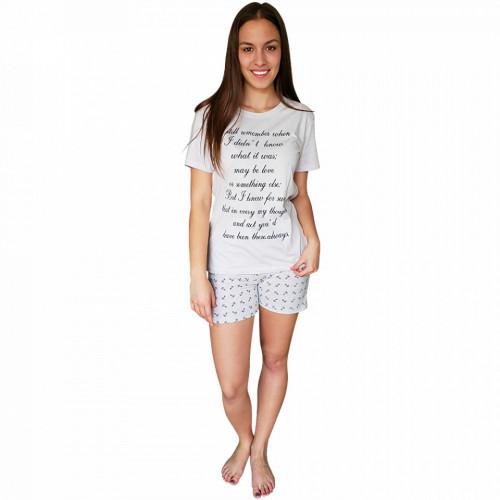 Pijamale Dama Bumbac 100%, Brand Charachter, 'Still Remember' Ghiaccio