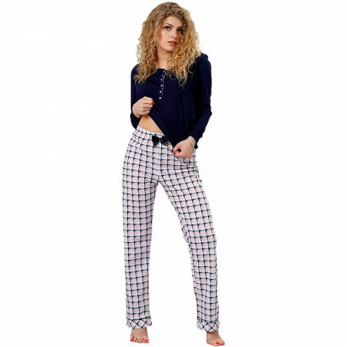 Pijamale Dama M-Max, Bumbac 100%, 'Raffinement'