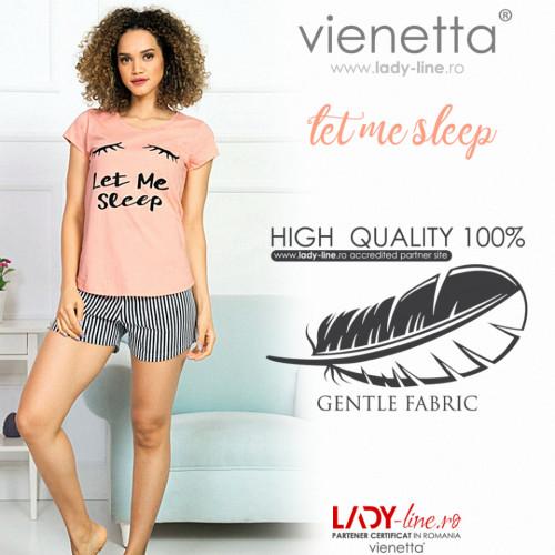 Pijamale Dama Vienetta Bumbac 100% 'Let Me Sleep'