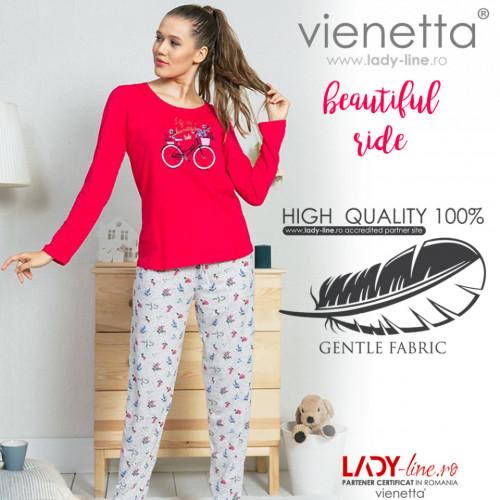 Pijamale Dama Vienetta Model 'Life is a Beautiful Ride'