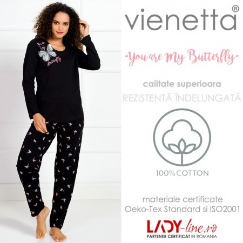 Pijamale Dama Vienetta, 'You are My Butterfly' Black