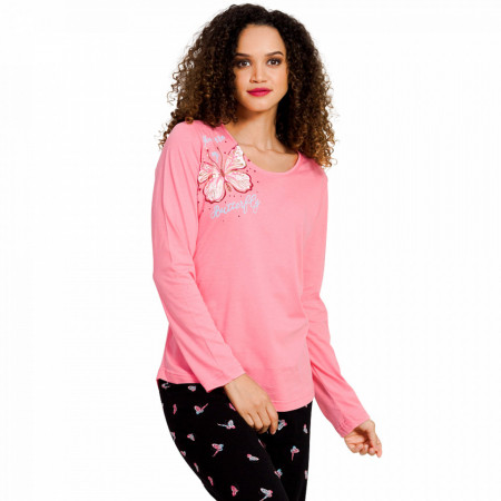 Pijamale Dama Vienetta, 'You are My Butterfly' Pink
