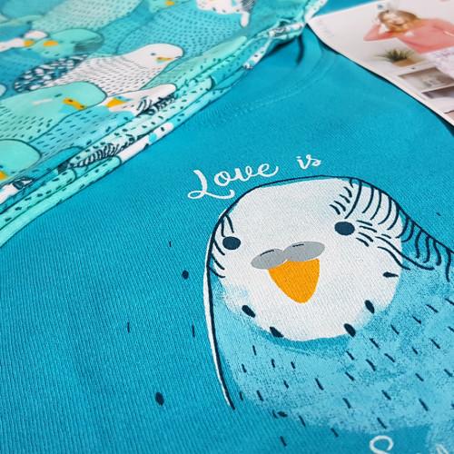 Pijamale din Bumbac Interloc, Good Look, 'Love is Sweet' Vernil