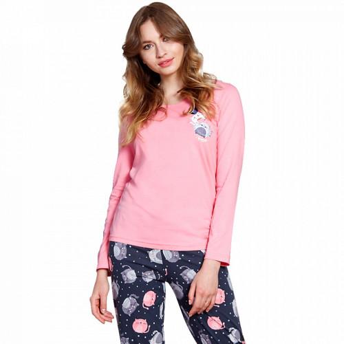 Pijamale Vienetta din Bumbac 100%, Model 'Best Friends'