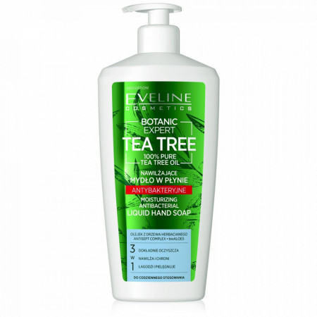 Sapun Antibacterian 3in1 Botanic Expert Tea Tree Oil 100% Pure Eveline Cosmetics