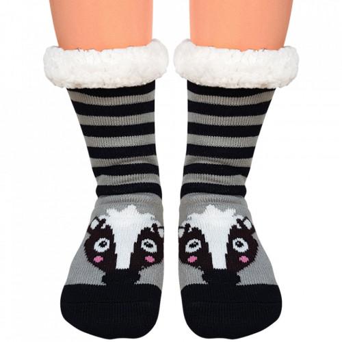 Ciorapi Imblaniti Lady-Line, 'Happy Raccoon'