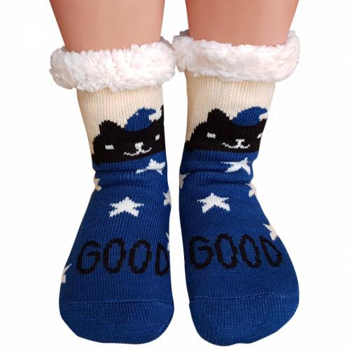 Ciorapi Imblaniti si Caldurosi Lady-Line Model 'Good Good' Blue