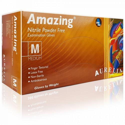 Manusi Nepudrate Examinare Aurelia® Amazing® TransBlue, Plic 20 Buc (10 Seturi)
