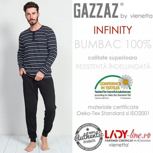 Pijama Barbati Gazzaz by Vienetta, 'Infinity' Black