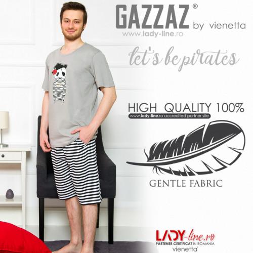 Pijama Barbati Gazzaz by Vienetta, 'Let's be Pirates' Gray