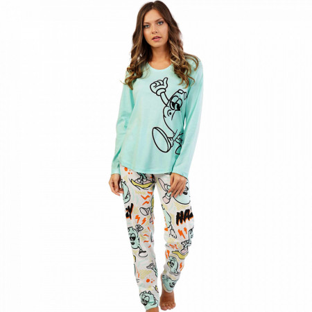 Pijamale Confortabile din Bumbac Vienetta Model 'Funny is My Second Name'