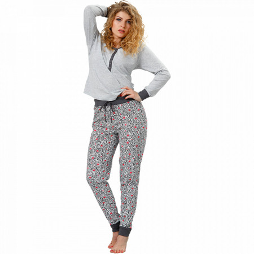 Pijamale Dama M-Max, Bumbac 100%, 'Wild and Happy'