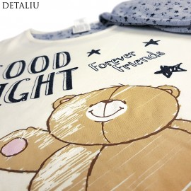 Poze Pijamale Dama Maneca/Pantalon Lung, Hallmark Cards, 'Good Night'