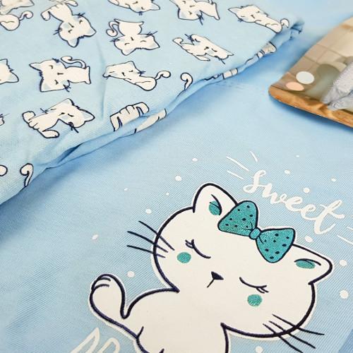 Pijamale Dama Vienetta Bumbac 100% 'Sweet Dreams' Blue