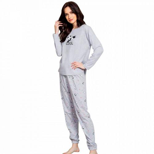 Pijamale Dama Vienetta Model 'Cool Ya' Gray