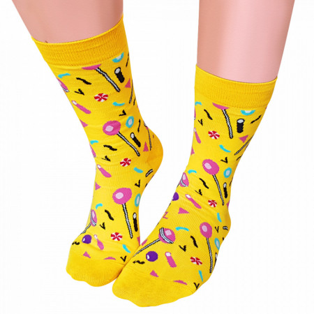 Sosete Clasice Colorate Unisex Cosas Boutique Socks Model World of andy