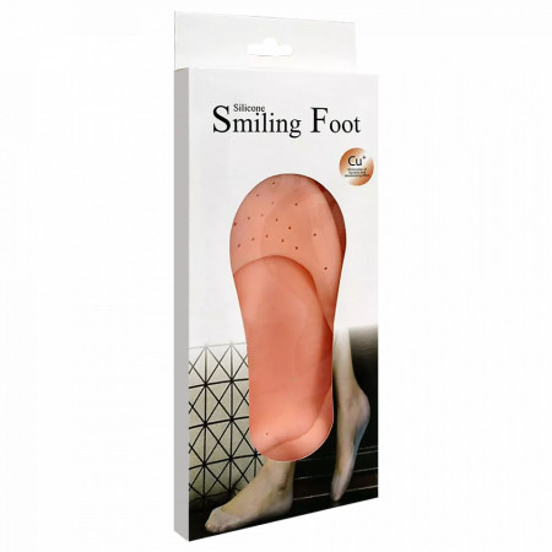 Sosete Silicon pentru Calcaie Crapate si Talpa, Silicone Smiling Foot