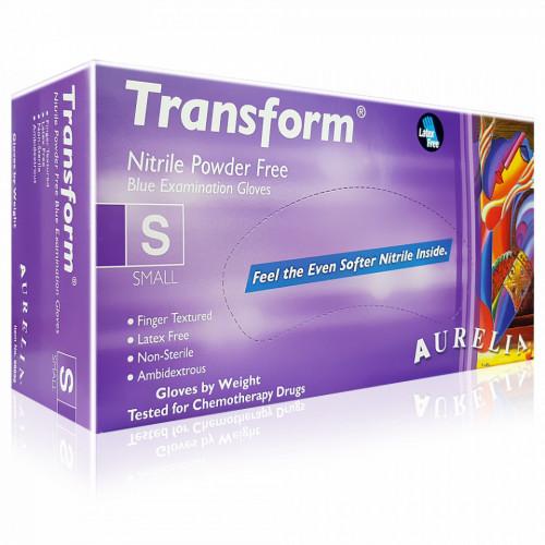 Manusi Nepudrate Examinare Aurelia® Transform® Ice Blue, Plic 20 Buc (10 Seturi)