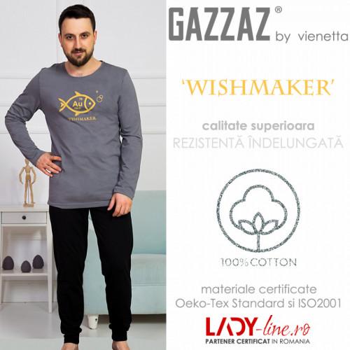 Pijama Barbati Gazzaz by Vienetta, 'WishMaker' Gray