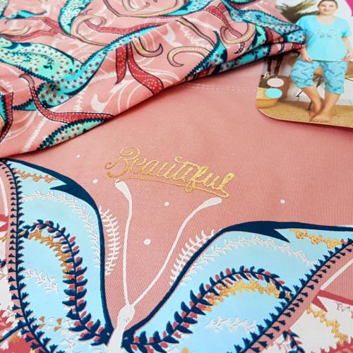 Pijama Dama Vienetta, Bumbac 100%, 'Beautiful' Pink