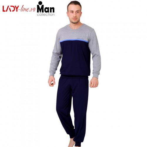 Pijamale Barbati, Bumbac 100%, 'Extrem Life Style' Blue, M-Max