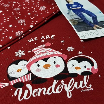 Pijamale Bumbac Interloc, Good Look, 'We Are Wonderful'