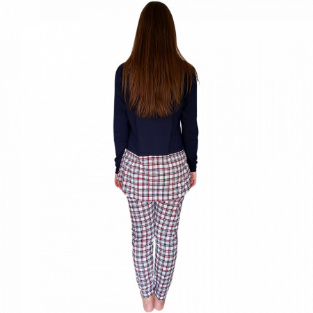 Pijamale Dama Bumbac 100%, Charachter, 'Private And Secret' Blue