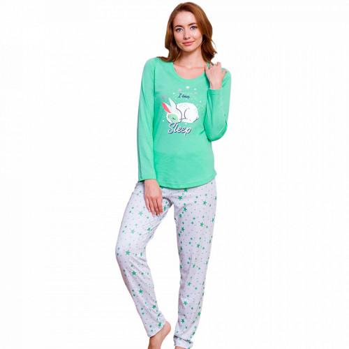 Pijamale Dama cu Iepurasi Vienetta Model 'I Love Sleep'