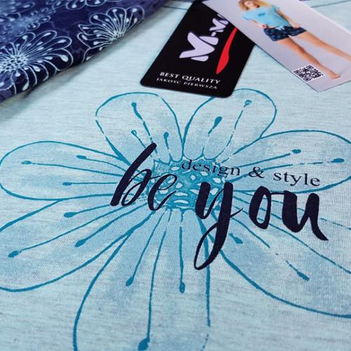 Pijamale Dama M-Max, Bumbac 100%, 'Be You'