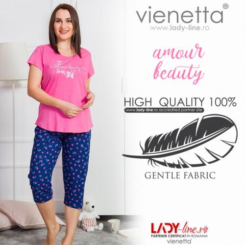 Pijamale Dama Marimi Mari, Vienetta, 'Amour Beauty' Pink
