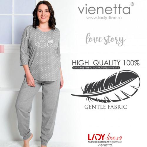 Pijamale Dama Marimi Mari Vienetta 'Love Story'
