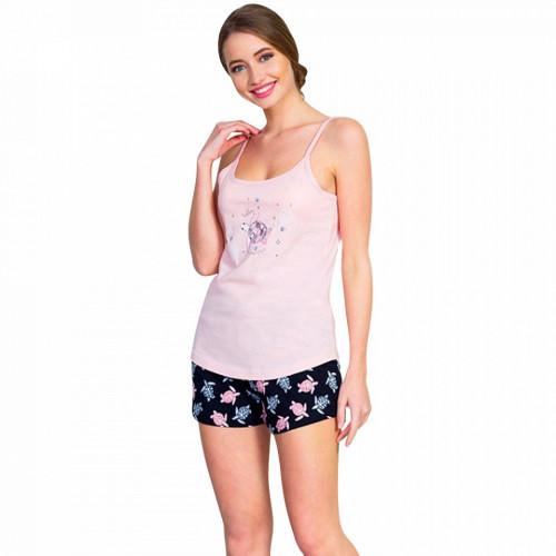 Pijamale Dama Vienetta, 'Beauty & Awesome' Culoare Pink