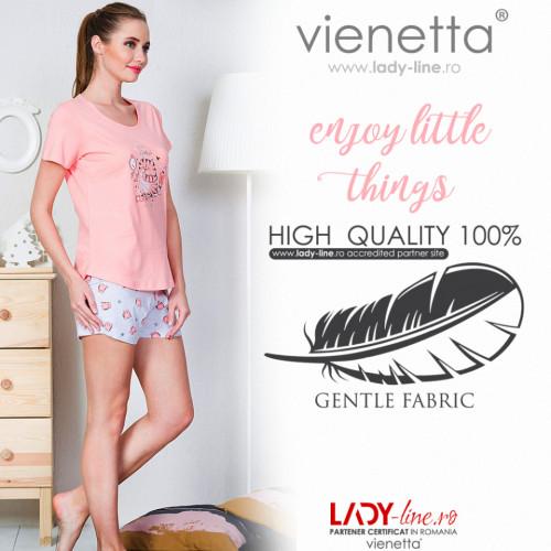 Pijamale Dama Vienetta Bumbac 100%, 'Enjoy Little Things'