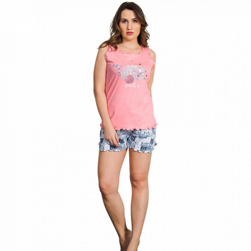 Pijamale Dama Vienetta Marimi Mari, Bumbac 100%, Model Smile :)