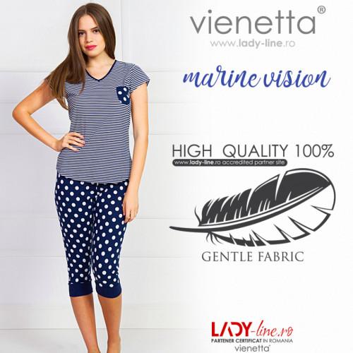 Pijamale Dama Vienetta 'Marine Vision' Bumbac 100%