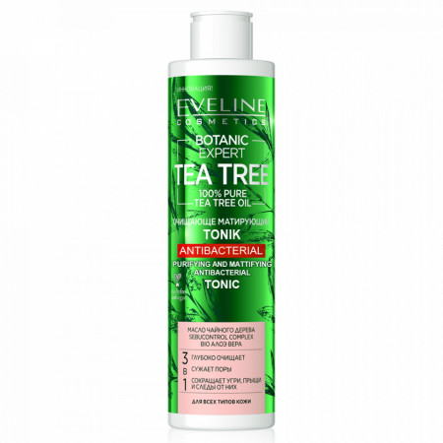 Tonifiant Curatare Antibacteriana Botanic Expert Tea Tree Eveline Cosmetics
