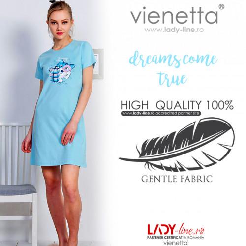 Camasa de Noapte Bumbac 100% Vienetta, Model 'Dreams Come True'