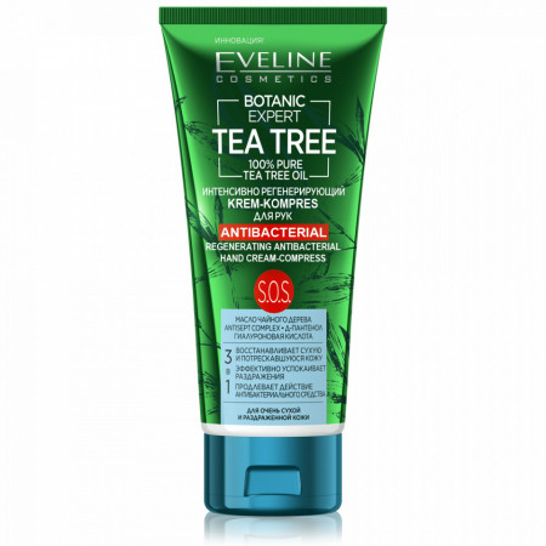 Crema Maini Regeneranta si Antibacteriana Botanic Expert Tea Tree Eveline Cosmetics