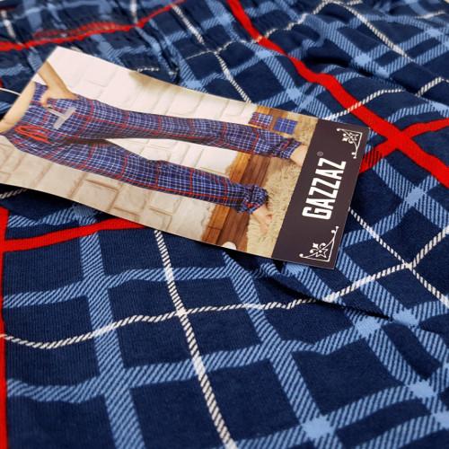 Pantaloni Pijama Barbati din Bumbac Gazzaz by Vienetta 'New Profile'
