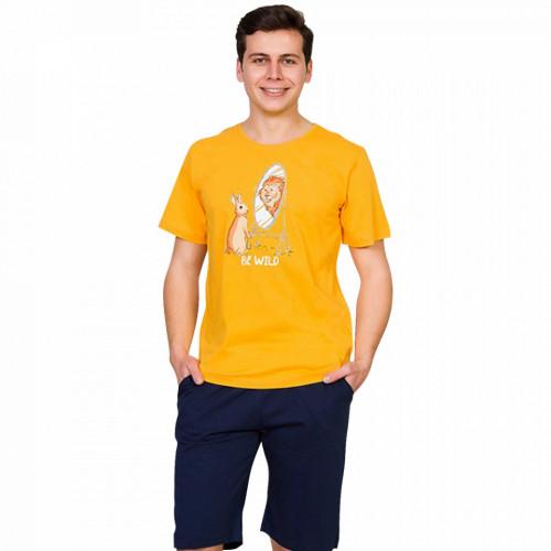 Pijama Barbati Gazzaz by Vienetta, 'Be Wild' Yellow