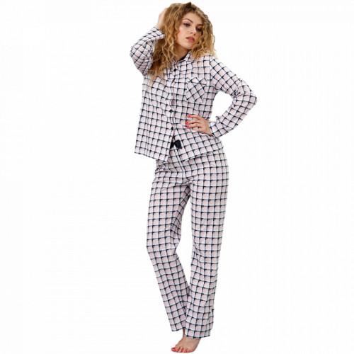 Pijama cu Nasturi Dama M-Max, Bumbac 100%, 'Fabulous'