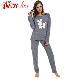 Poze Pijama Dama Maneca/Pantalon Lung, 'Pure Love', DN-Nightwear