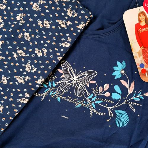 Pijama Dama Marimi Mari Vienetta, Bumbac 100%, 'Beautiful'