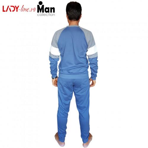 Pijamale Barbati Bumbac Interlock, Brand Snelly L'Originale, 'Ocean Spirit' Blue