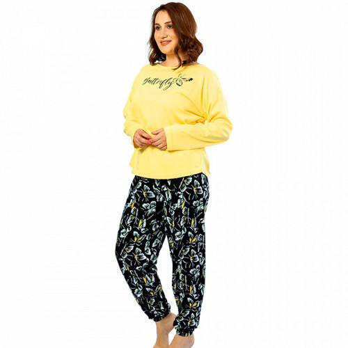 Pijamale Confortabile Dama din Bumbac 100% Marimi Mari Vienetta Model 'Butterfly'