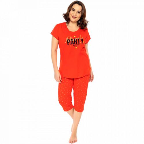 Pijamale Confortabile Dama Marimi Mari Vienetta Model 'Let's Make Party' Red